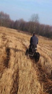 Riding Blumil on the fields