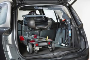 electric wheelchair in car transport