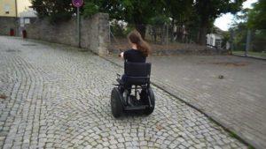 Liese's Blumil electric wheelchair ride
