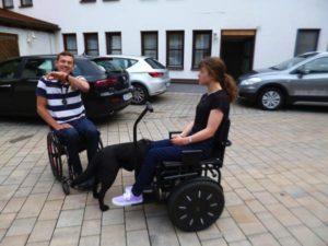 Blumil electric wheelchair ride