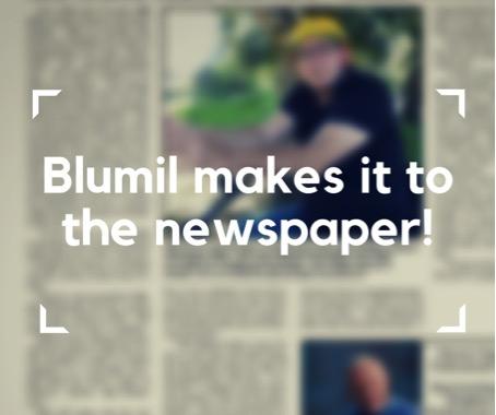 Blumil in a newspaper