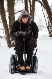 Blumil ride through the snow