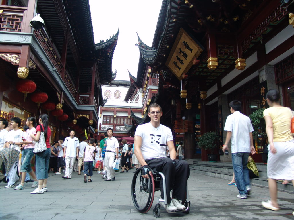 Shanghai, China, streets, Milo's accessibility rating, Blumil wheelchair