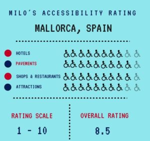 Mallorca accessibility rating - on an electric wheelchair