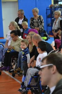 Children at rehabilitation equipment fair
