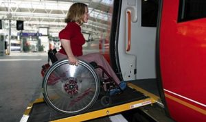 Not only the electric wheelchair can help you easily board the train