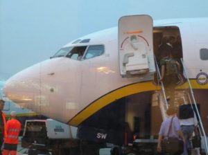 Loading electric wheelchair to the plane