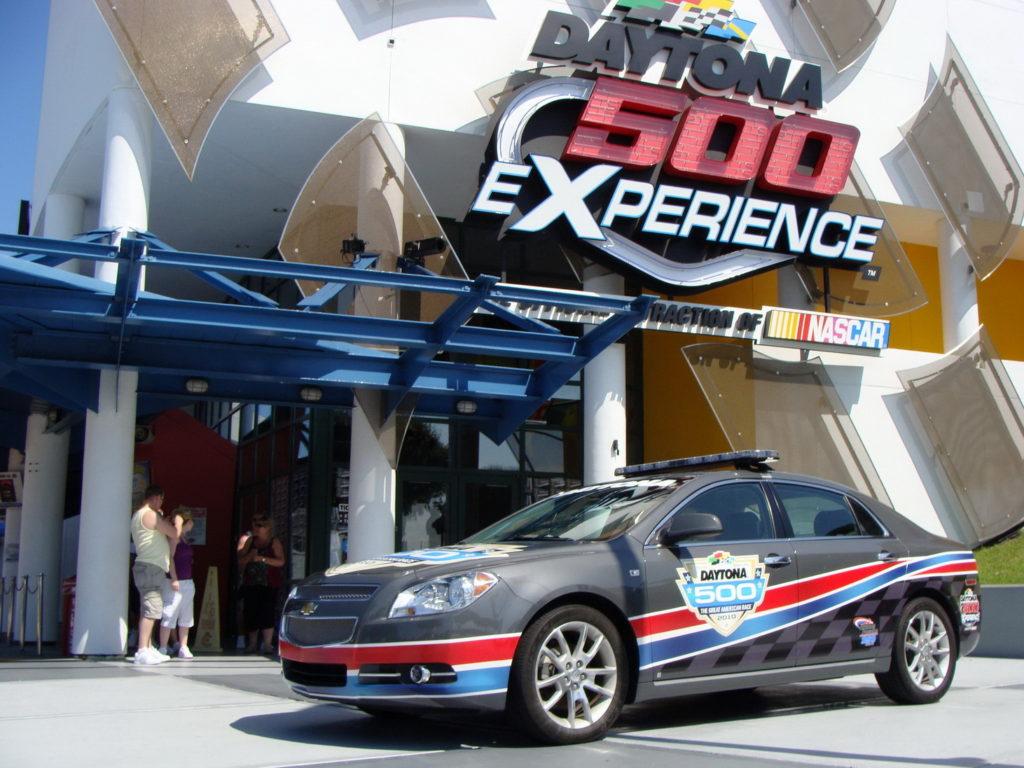 Accessibility rating, trip to Florida, USA, visiting Daytona International Speedway in Daytona Beach. Car races mecca.
