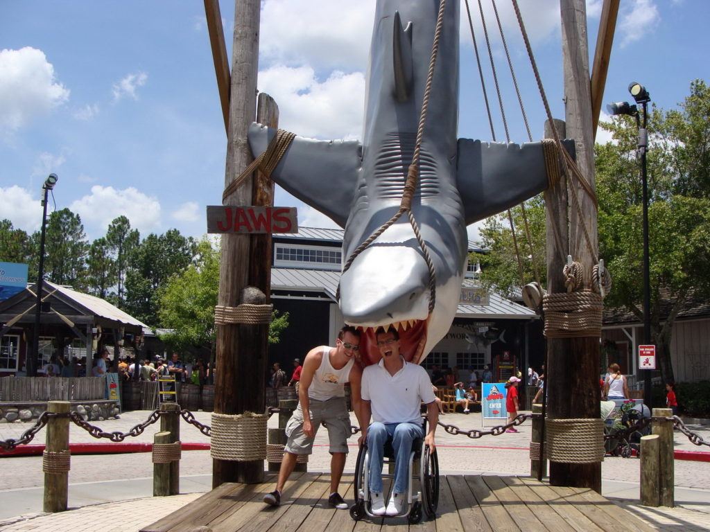 Orlando, Florida, Universal Studios Florida, Shark, Blumil wheelchair, accessible travel