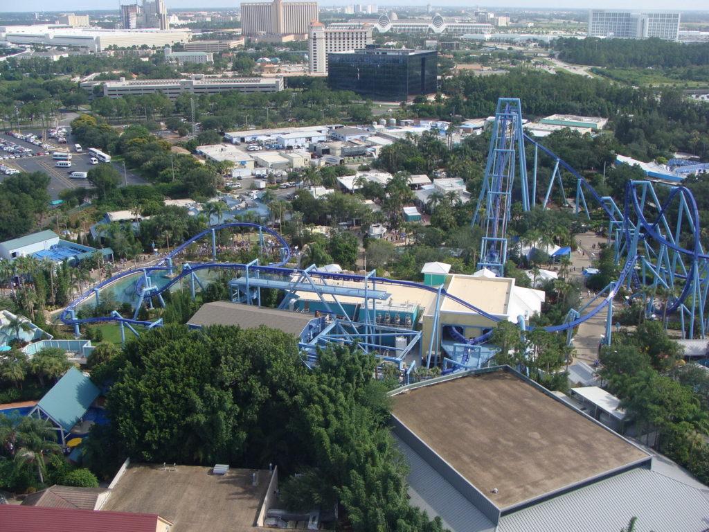 Busch Gardens Tampa Bay amusement park, trip to Tampa, Florida, USA, roller coaster, Blumil wheelchair
