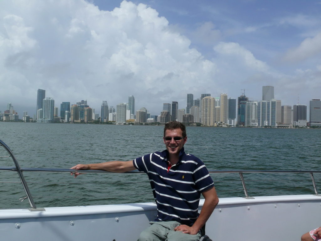 Skyscrapers in Miami, Florida, USA, travel in a wheelchair, accessible travelling, Blumil wheelchair