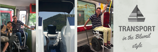 transport in the blumil style, electric wheelchair for public transport