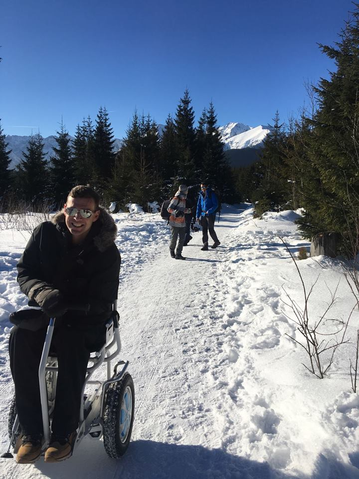 Electric wheelchair Blumil, accessible traveling, navigating the mountains