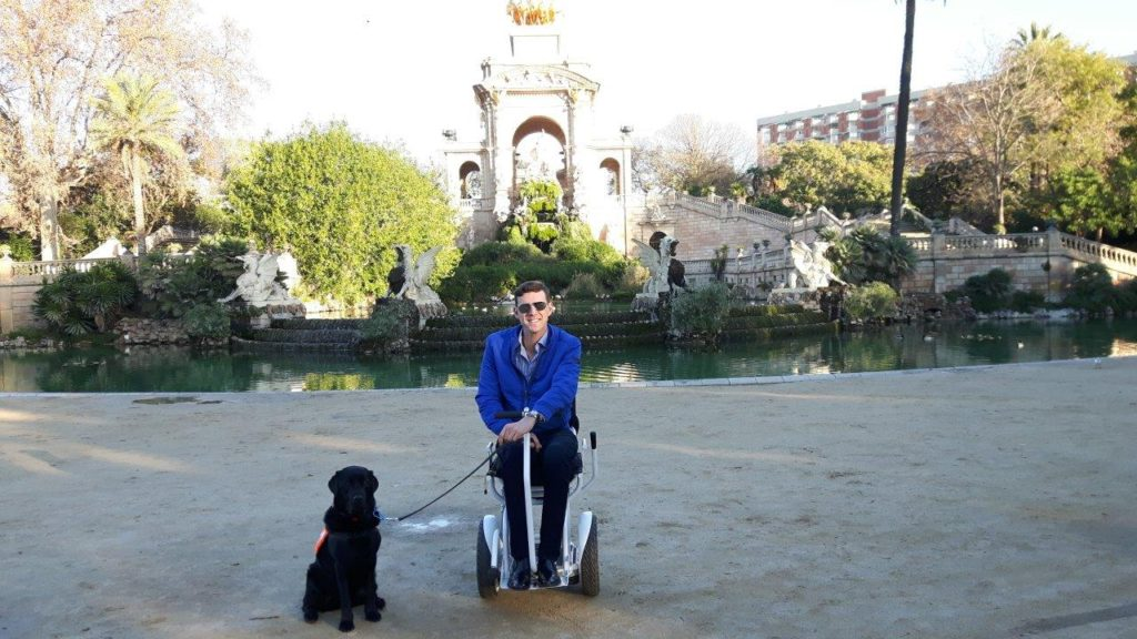 Barcelona, Spain, The Great Accessibility rating, electric wheelchair Blumil