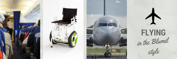 Flying in The Blumil style, accessible travel, flying with an electric wheelchair