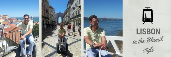 Lisbon in the Blumil style, Portugal, accessible travel, travel in a wheelchair, travel with an electric wheelchair