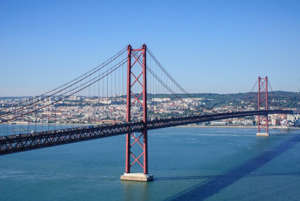 25 de Abril Bridge, Lisbon, Portugal, accessible travel, electric wheelchair