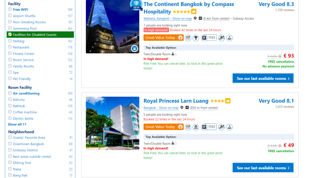 Booking.com, hotels, booking a hotel, accessible travel, electric wheelchair