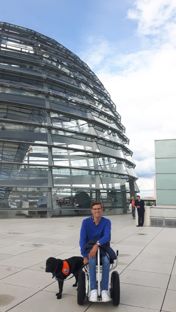 Bundestag, Berlin, Germany, accessible travel, electric wheelchair
