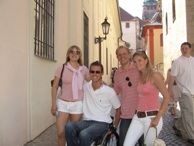 Cobblestone in Prague, pavement, electric wheelchair, accessible travel