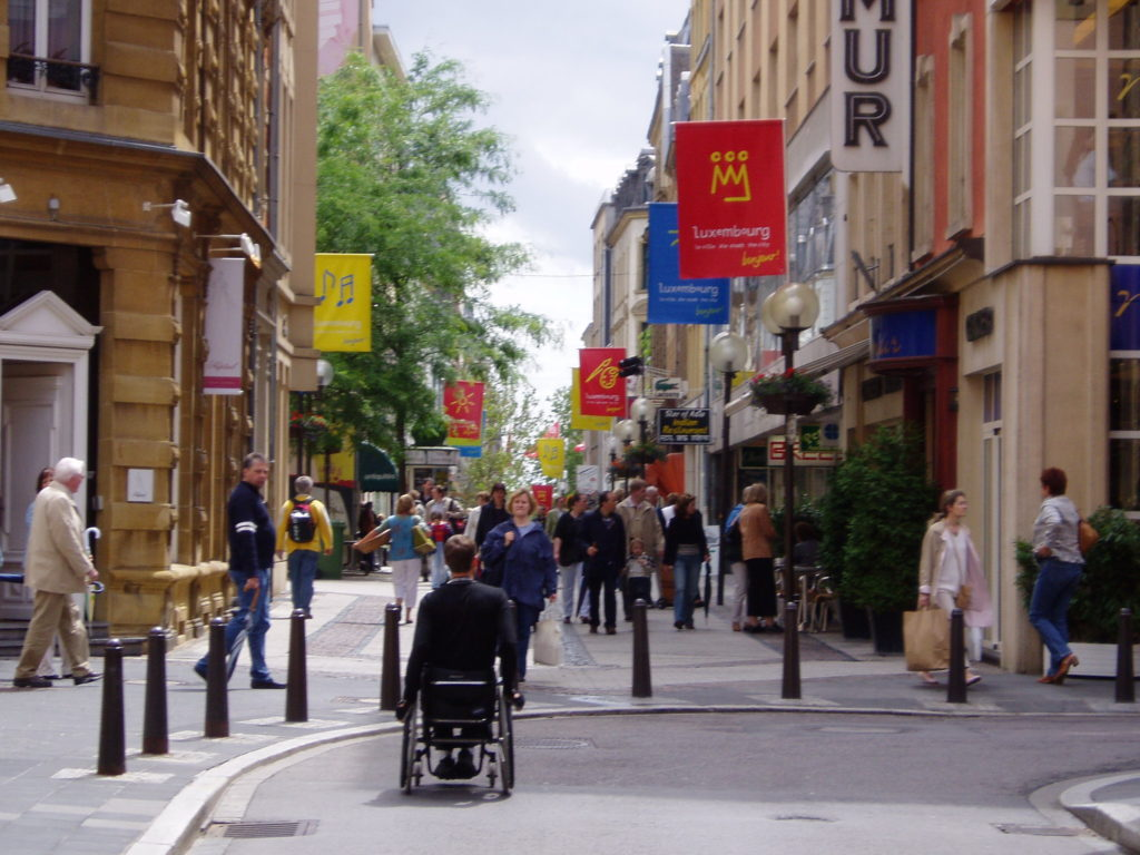 Luxembourg City, accessible travel, travel in an electric wheelchair