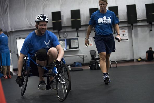 Crossfit for wheelchair users, sports for wheelchair users, electric wheelchair