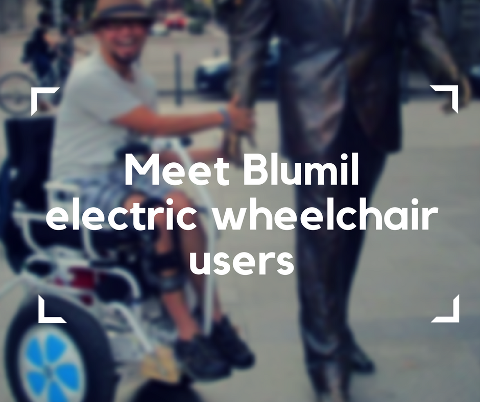 Blumil electric wheelchair users, electric wheelchair, accessible travel, travel in an electric wheelchair