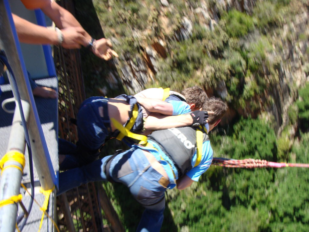 Bungee jumping, extreme sports, electric wheelchair