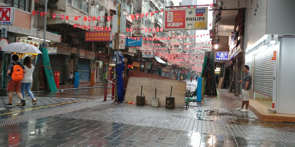 Rainy streets of Hong Kong, accessible travel, electric wheelchair, wheelchair friendly travel