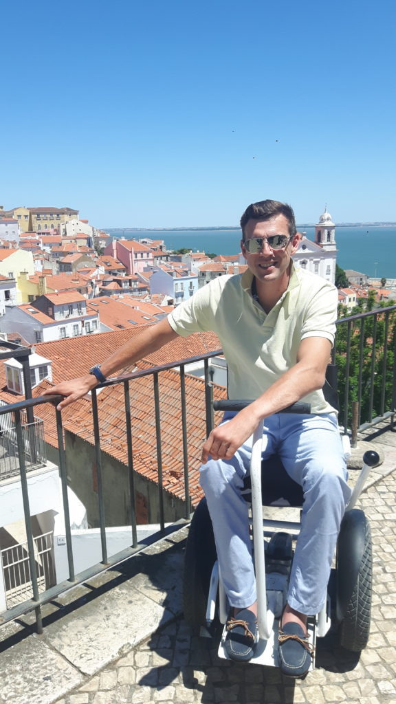 Alfama, Lisbon, Portugal, accessible travel, travel in an electric wheelchair