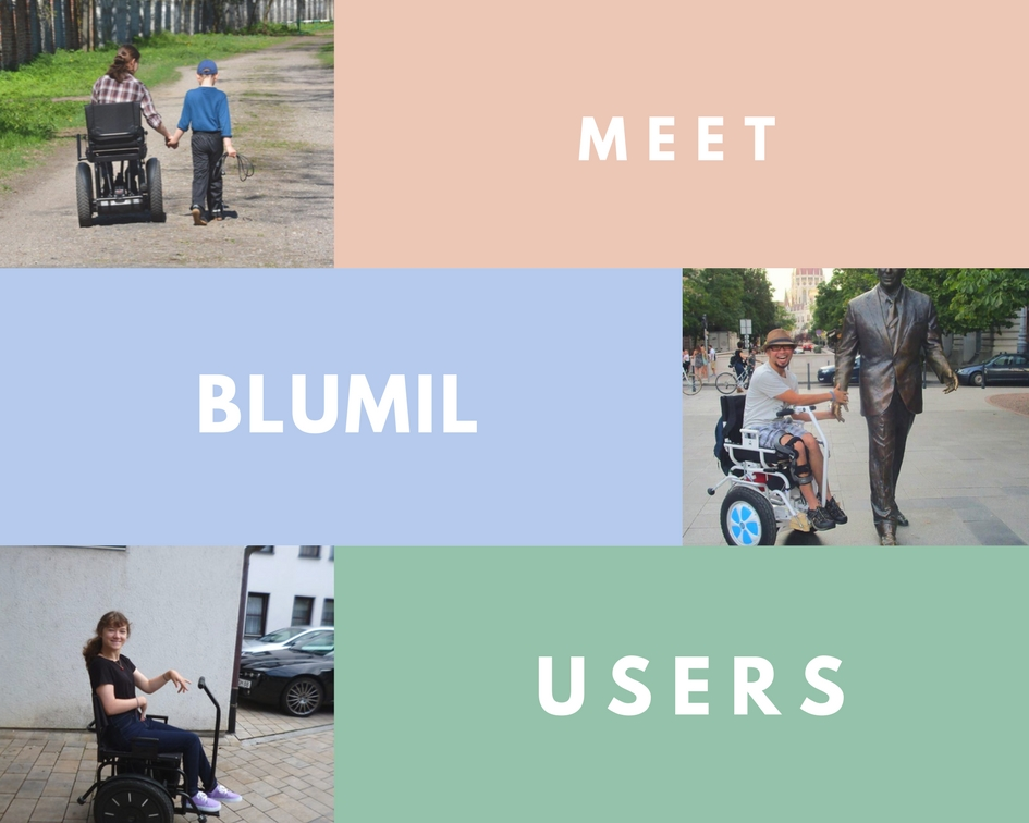 Blumil users, electric wheelchair users