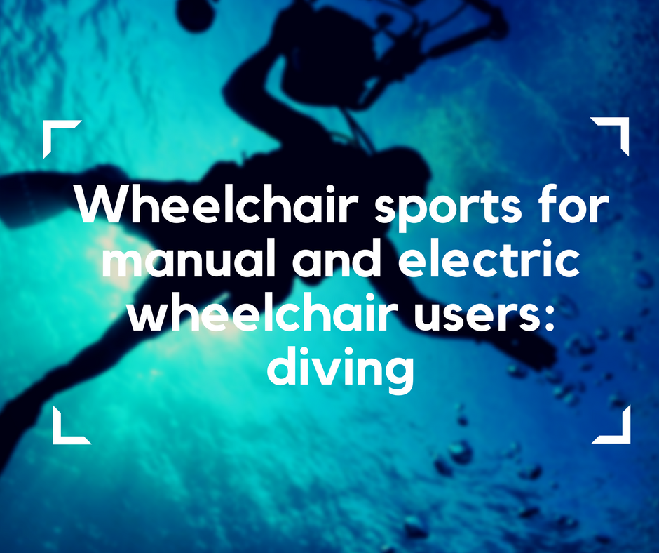 wheelchair sports, diving for wheelchair users, electric wheelchair, diving for manual and electric wheelchair users, sports for wheelchair users