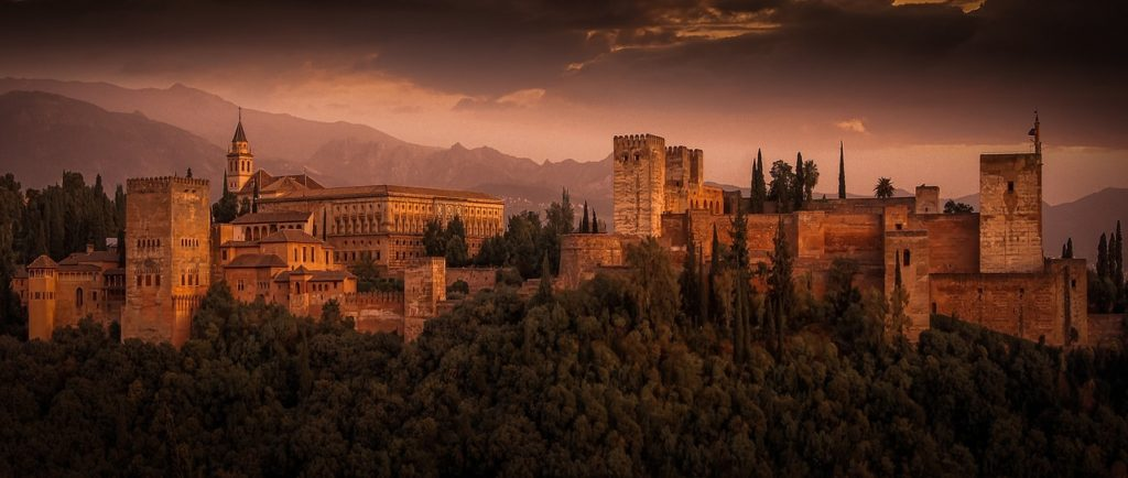 Alhambra, palace, Spain, Andalusia, Granada, electric wheelchair, accessible travel
