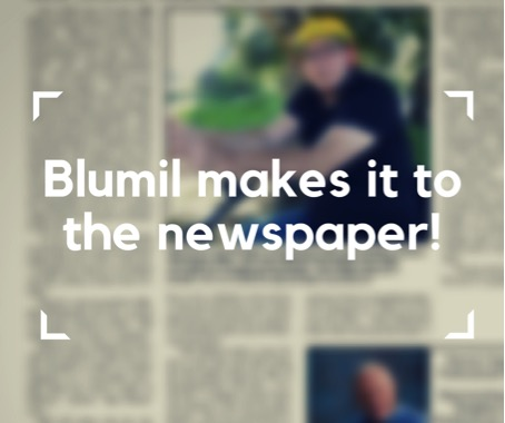 Blumil in a newspaper
