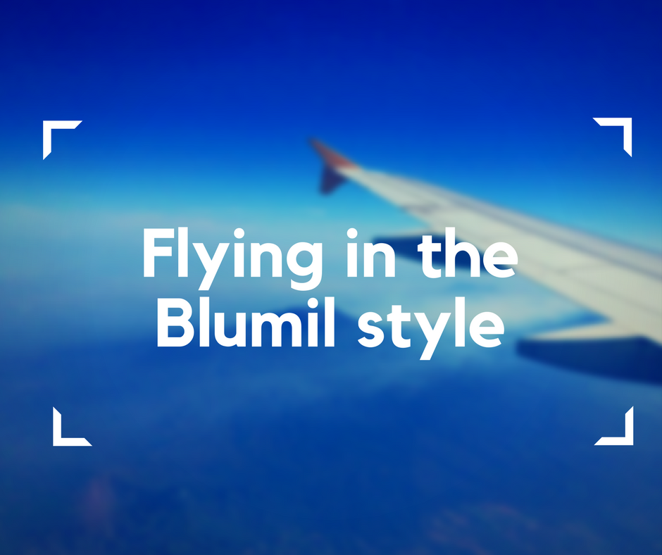 Flying in the Blumil style, flying with an electric wheelchair, accessible traveling