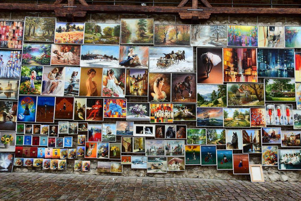 Art in Krakow, Poland, travel in a wheelchair, travel in an electric wheelchair, wheelchair friendly tourism, accessible Krakow, Krakow in a wheelchair