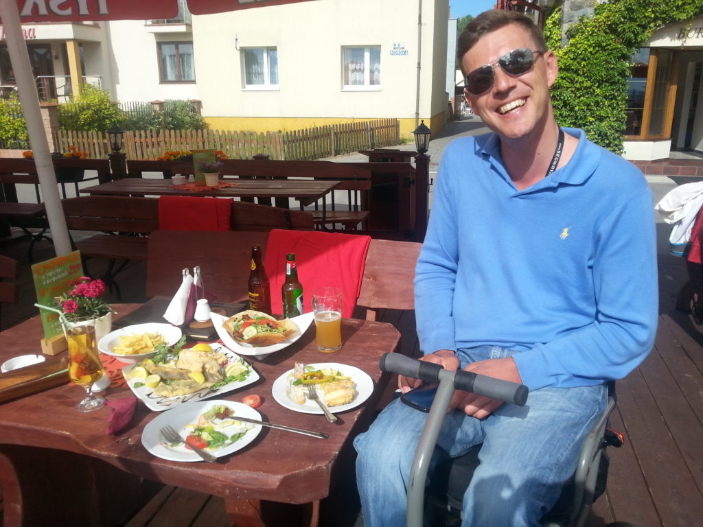 Sea food platter, Hel, Poland, accessible travel, wheelchair friendly travel, traveling with a wheelchair, wheelchair friendly tourism