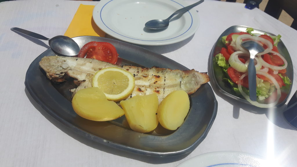 fish platter, Portugal, electric wheelchair, accessible travel, wheelchair friendly travel, traveling in an electric wheelchair