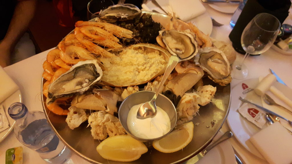 Seafood, foodie on the road, electric wheelchair, culinary adventures, accessible travel, wheelchair friendly tourism, traveling in an electric wheelchair