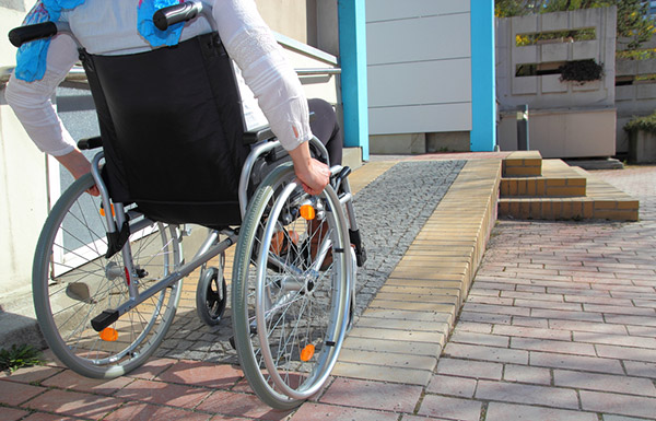 accessible housing, electric wheelchair, accessible porch, wheelchair friendly house, all-terrain wheelchair, city electric wheelchair