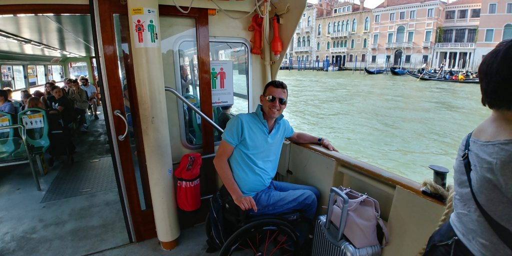 Venice, electric wheelchair, all-terrain electric wheelchair, accessible travel, wheelchair friendly travel, travel in an electric wheelchair, accessible tourism, Venice in a wheelchair